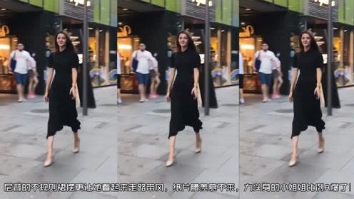 """羡慕九头身的小姐姐,""""竹竿""""身材比例惊艳"""