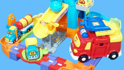 伟易达的工地场景汽车轨道玩具