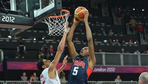 杜兰特伦敦奥运会五大扣篮 双手隔扣羞辱对手