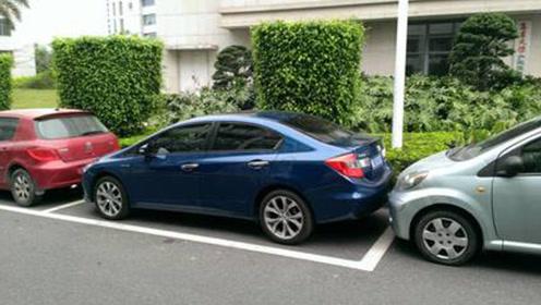 新手司机怕停车?超简单侧方位停车技巧,看过就会