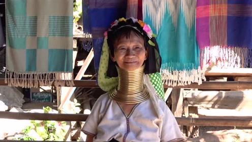 泰国北部有一个奇特的地方,这里的女人看起来就像长颈鹿一样