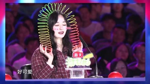 《中国达人秀》:杨幂亲身表演彩虹圈,玩到根本停不下来!