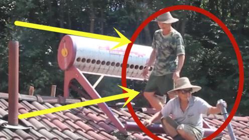 农村大叔收破烂捡太阳能热水器,拉回家砸开后,突然发现不对劲!