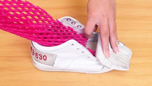 水果网套放进鞋子里,作用太厉害了,解决男女一大烦恼,抓紧试试