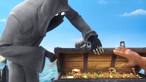 死神准备带走将死水手,无意发现身旁宝藏,竟直接扔到海里!
