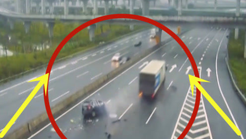 揪心,轿车司机高速作死掉头,下一秒当场死亡!