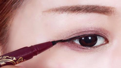 眼线总是画不好?化妆师手把手教你,多久都不晕染,切记别忽视
