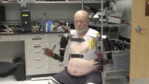 老外发明用意念控制假肢,意念有多强,假肢就有多灵活!