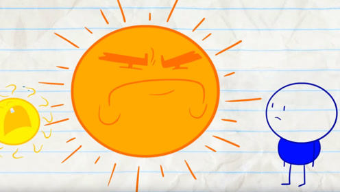 男孩欺负小太阳,太阳爸爸来报仇,瞬间把小男孩烤焦了!