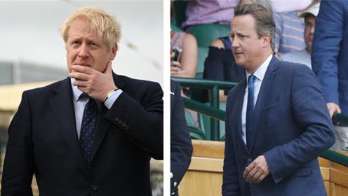 """英前首相卡梅伦谈约翰逊:他曾说 """"脱欧""""会让英国像癞蛤蟆一样"""