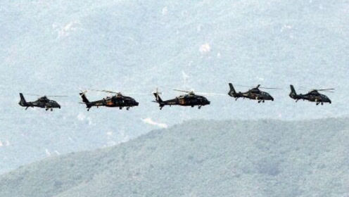 直-20与武直-10首次同框飞行,陆航马上要和黑鹰说再见了!
