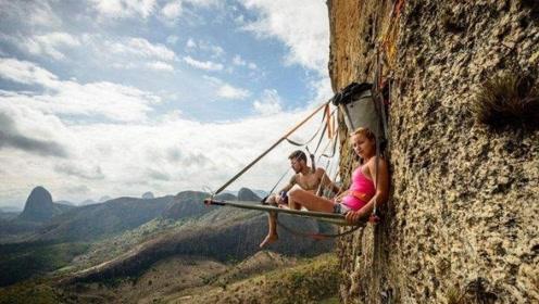 """世界上最""""淡定""""的群体,躺在悬崖中央睡觉,看完你敢尝试吗?"""