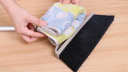 扫把上套一条毛巾,作用真厉害,全家人抢着用,不学太亏了