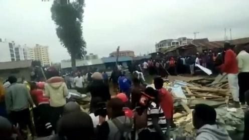 肯尼亚首都一小学坍塌 6人确认死亡 多人受伤
