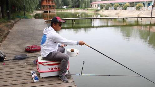 新手学钓鱼,学完抛竿就要学压风线了,几句话教会你如何压好风线