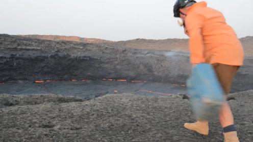 往火山里丢水桶会发生什么?老外作死实验,一起来看看!