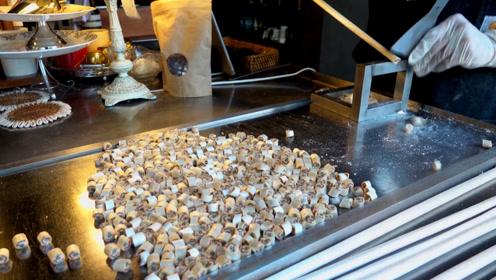 韩国人制作可爱手工糖,看着制作过程很容易,切开后太惊喜