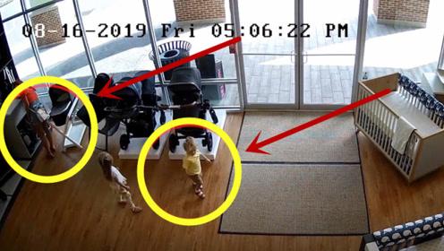 妇女盗窃得手后匆忙离开,却把孩子忘在商店,回来找孩子被抓获!
