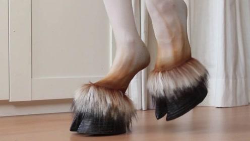 日本发明奇葩高跟鞋,形似马蹄一双要卖好几千,美女却爱不释手