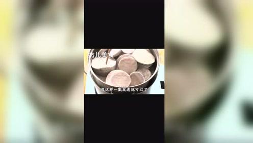 奶香芋泥,细腻绵软,加上浓浓的奶香和芋头香味、在家也能做