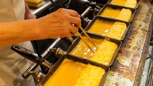 实拍日本街头的炒鸡蛋,比国内复杂很多倍,成品看着好满足!