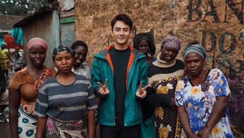 王凯在非洲拍戏收获非洲迷妹中文表白