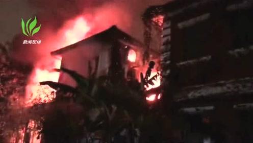 突发!杭州一别墅发生火灾 整栋楼都被烧