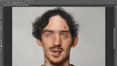一个奇丑无比的男子,经过电脑高手修图后,没想到这么帅气
