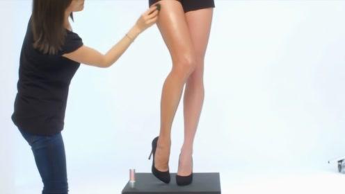 原来模特的腿也要化妆?看完这化妆过程,效果堪比换腿!