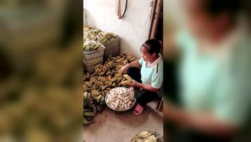 香蕉卖不出去,只能这样处理了!