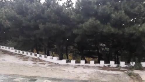北京延庆佛爷顶下雪