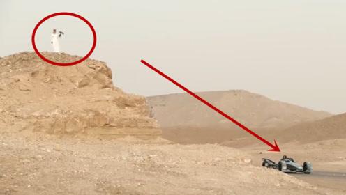 一只游隼对一辆方程式赛车,起步瞬间高能,镜头全程记录