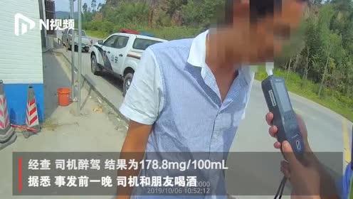 珠海泥头车司机醉驾被查,嚼口香糖掩盖酒精味,网友:该管管了!