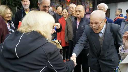 厉害!91岁爷爷操流利英语向外宾推荐西安:爱看Global Times
