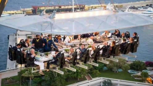 最刺激的餐厅,在50米高空上就餐,网友:光看着就过瘾
