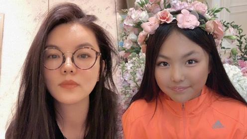 李湘为女儿庆祝10岁生日,王诗龄变成了小麦色,与李湘越发相似