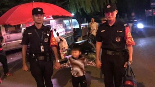 """余杭5岁男孩走失带着民警""""逛街"""" 妈妈知道后急得哭出来"""