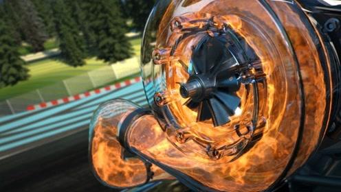 全透明的F1赛车有多帅气?一脚油门下去速度瞬间爆发,看得人热血沸腾