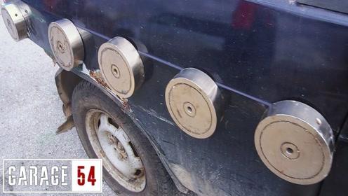 """大叔用磁力之王""""钕磁铁""""拖10吨重小汽车,结果却是无比给力!"""