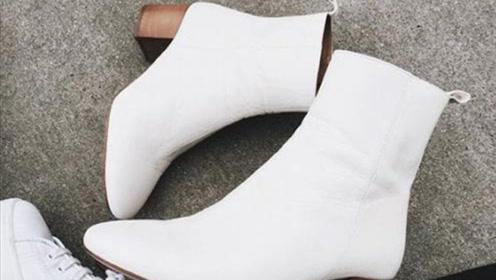 比黑色更百搭 白色短靴占领今秋绝对C位