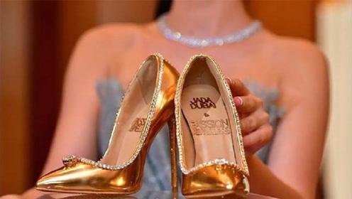 最贵高跟鞋,钻石镶边黄金为底,一双1.17亿人民币!