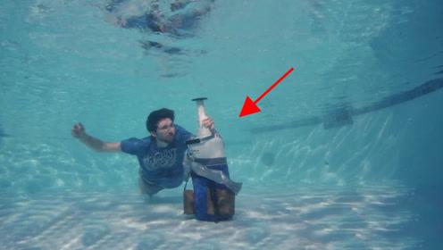 将打开的液氮罐沉入水底,最后会有怎样的表现?老外:太神奇了!