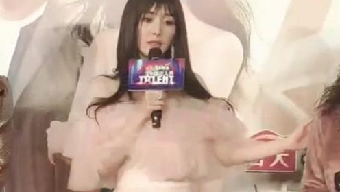 杨幂穿粉色纱裙现身活动,这个齐刘海好减龄啊!