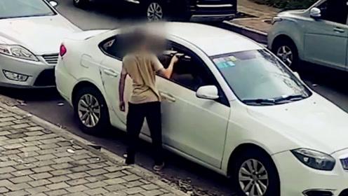 男子见车窗没关顺手盗走手机 随后又折返盗走笔记本电脑