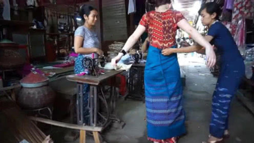 缅甸女人为啥都穿筒裙,当她们把筒裙脱下时,简直大开眼界!