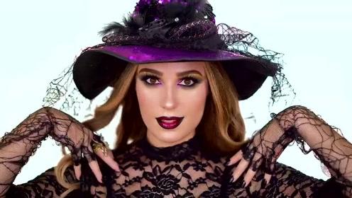 万圣节女巫速妆教程:美妆打扮后的样子你觉得漂亮吗?