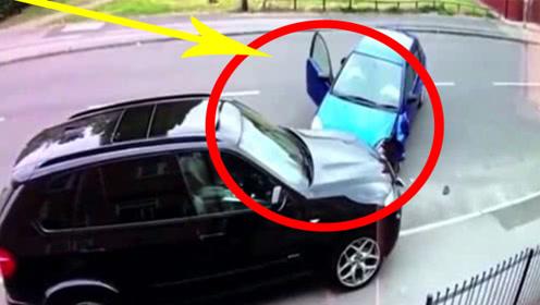 女司机撞上豪车,下车一看状况,顿时掩面哭泣!