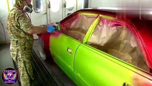 堪称完美的喷漆技术,老师傅因此走红,给爱车来一次华丽变身