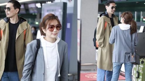 Ella陈嘉桦与老公罕见合体 甜蜜对视秀最萌身高差