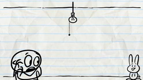 铅笔人意外发现电灯开关,却意外被关进了笼子,画面太搞笑